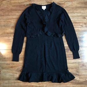 Girls Sweater Dress + Cardigan